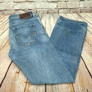 Diesel Larkee Shaded/Distressed Medium Wash Jeans